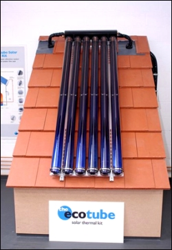 Image: Ecotube Single-Panel Solar Collector Kit