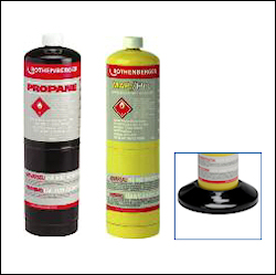 Image: disposable propane, MAP/PRO gas cylinders, Cylinder support stand